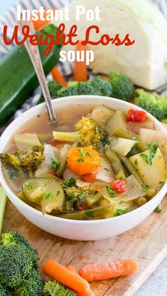 Instant Pot Weight Loss Soup is a very easy to make veggie soup that packs lots of nutrients and fiber to keep you full and boost your energy. Start eating healthy today with this delicious weight loss soup made easy with your instant pot! Instant Pot, Soup Recipes, Healthy Recipes, Healthy Meals, Cleanse Recipes, Healthy Soup, Dessert Recipes, Dinner Recipes, Recipes