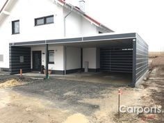 Gallery - pfiff-carports Best Picture For decoration terrasse diy For Your Taste You are looking for Alu Carport, Carport Garage, Garage Plans, Garage Doors, Carport Designs, Garage Design, 6 Bedroom House Plans, French Country House Plans, Carports