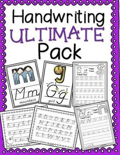 This grade handwriting pack has everything you need for letter formation instruction and practice for D'Nealian or Modern Manuscript letters. Dnealian Handwriting, Handwriting Activities, Handwriting Analysis, Handwriting Worksheets, Penmanship Practice, Teaching Cursive, Alphabet Line, Improve Your Handwriting, Letter Formation