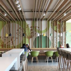 Interesting And Eclectic Food Court Designs To Keep You Engaged - Bored Art - interior design/architecture - Restaurant Design, Decoration Restaurant, Deco Restaurant, Restaurant Lighting, Design Commercial, Commercial Interiors, Interior Design Business, Best Interior Design, Modern Interior