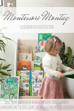 Montessori Bücher und unsere Kinder: Wie geben wir die Liebe zu Büchern weiter? Wie lernen sie den behutsamen Umgang? Wie präsentieren wir Bücher ideal?