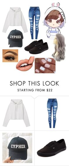 """ BTS Cypher "" by xaesthetic ❤ liked on Polyvore featuring WithChic and Vans"