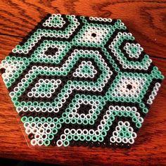 Geometric design perler beads by kaylahhh182