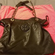 Tory burch Marion Purse In Excellent Condition,  No Sign Of WEAR & Tear 100% Authentic comes with dust bag Tory Burch Bags Shoulder Bags