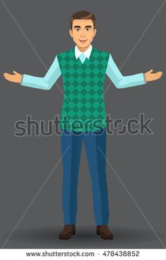 Teacher or lecturer in presentation poses, vector illustration