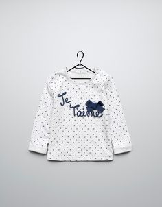 text and bow t-shirt - T-shirts - Baby girl (3-36 months) - Kids - ZARA United States