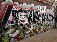 Betty Boop smokin a doob by Lions and Hert