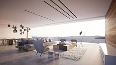 Magnifique séjour de cette maison d'architecte contemporaine