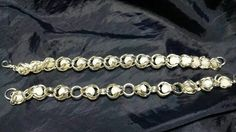 Caged white pearl beads