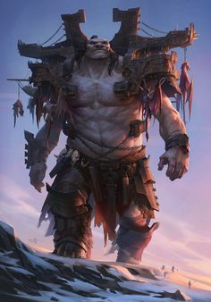 Giant 2 by Tooth Wu Monster Concept Art, Fantasy Monster, Monster Art, Fantasy Character Design, Character Design Inspiration, Character Art, Character Concept, Mythical Creatures Art, Fantasy Creatures