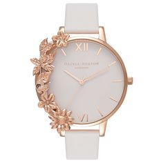 Olivia Burton Women's Case Cuffs Leather Strap Watch at John Lewis