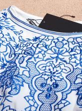 2013 New Hot Sale Blue And White Porcelain Embroidery Fight Gauze Dress #Udobuy