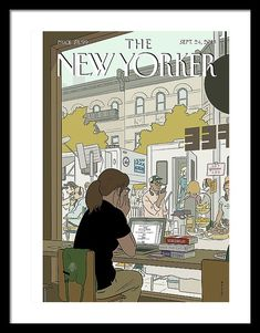 """US illustrator Adrian Tomine, """"Fourth Wall"""" for The New Yorker. The New Yorker, New Yorker Covers, Capas New Yorker, Chris Ware, Magazin Covers, Magazin Design, Ligne Claire, Fourth Wall, Print Magazine"""