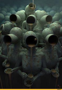 Andrey Bobir,сюрреализм,арт,красивые картинки,Мрачные картинки