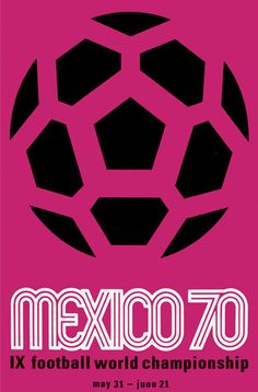 Mexico, 1970 World Cup Poster