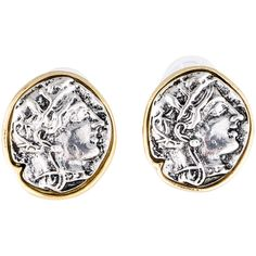 Pre-owned Kenneth Jay Lane Clip On Earrings ($75) ❤ liked on Polyvore featuring jewelry, earrings, engraved jewelry, clip-on earrings, kenneth jay lane, preowned jewelry and clip back earrings
