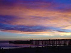 My unretouched photo, Seacliff Beach Aptos California, Sunset