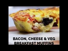 Simple and delicious egg breakfast muffins to meal prep for a syn free, high protein, low carb and gluten free breakfast!