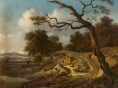 Jan Wijnants - Landschap met boeren op een weg
