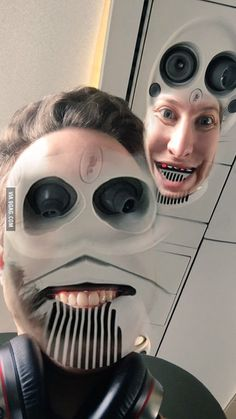 In case anyone was wondering, you can totally faceswap with airplane ceilings.