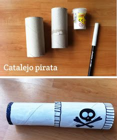 toilet paper roll pirate telescope craft for kids