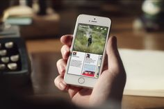 The social network's new iOS app combines the best of News Feed with curated stories to create the ultimate personalized newspaper. Application Iphone, Application Mobile, Paper App, Paper News, Social Networks, Social Media Marketing, Facebook Marketing, Service Marketing, Marketing Videos