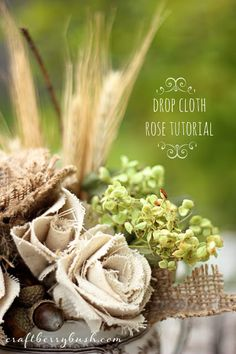 Craftberry Bush: Drop Cloth Rose Tutorial