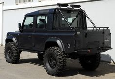 Land Rover Defender 110 Td4 DCH pickup edited as Spectre...great beast. Lobezno.