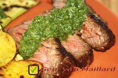 Marinated steak & Salsa verde - Geur van Maillard - www.maillard.nl