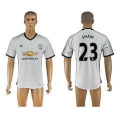Manchester United 16-17 #Shaw 23 3 trøje Kort ærmer,208,58KR,shirtshopservice@gmail.com