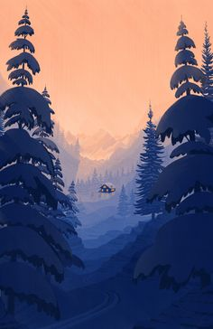 Illustration for the cover of The Boston Globe special ski section
