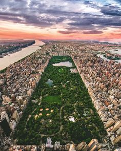 Central Park from above by @bskphoto  New York City Feelings  The Best Photos and Videos of New York City including the Statue of Liberty, Brooklyn Bridge, Central Park, Empire State Building, Chrysler Building and other popular New York places and attractions.