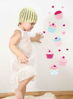 Forwalls Sweet Cupcakes Removable Wall Decal Stickers by Forwalls. $38.00. Forwalls vinyl decals are made from removable vinyl, so your blank walls have no excuse to be bare. Just peel and stick, it's so easy! Perfect for renters, or the commitment phobic. Forwalls vinyl decals can be applied to almost any surface - painted walls (allow 3 weeks to dry freshly painted walls), wall-paper, counter tops, windows, mirrors and tiles. They will not adhere to cloth, stucco, brick ...
