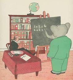 Babar aprende a sumar.