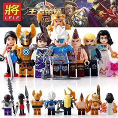 8pcs//set Cartoon Glory Heroes Building Blocks Bricks Figures Set Models Toys