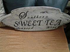 SOLD Southern sweet tea sign. @ Rockin b's in sharpsburg, ga. 770-253-8730. vendor 103 Born in a Barn.