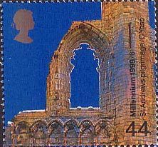 British Stamp 1999 - 44p, St Andrews Cathedral, Fife ('Pilgramage') from Millennium Series. The Christians' Tale (1999)