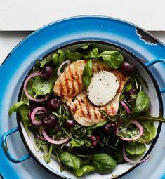 Broileriperhonen ja kirsikkasalaatti | Kana, Arjen nopeat, Grillaus | Soppa365 Sprouts, Vegetables, Vegetable Recipes, Veggies