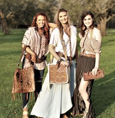 Beautiful Spring day looks! Axis deer hide and gorgeous hand tooled eye candy.