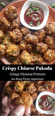 Chinese pakoda Chinese Pakora Chinese Fritters Cabbage fritters Cabage manchurian with step-by-step instructions. Crispy and quick appetizer Chinese Appetizers, Easy To Make Appetizers, Appetizers For Party, Quick Snacks, Indian Snacks, Indian Food Recipes, Asian Recipes, Carne Asada, Indo Chinese Recipes