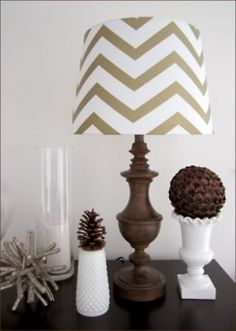 chevron shade - maybe silver or navy in bedroom?