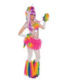 Look what I found on #zulily! Rainbow Unicorn Costume Set - Women #zulilyfinds