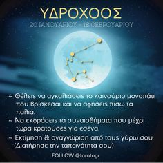 Ο Υδροχόος (γεννημένος μεταξύ της 21ης Ιανουαρίου και της 19ης Φεβρουαρίου) είναι το 11ο ζώδιο κυβερνάται από τον Ουρανό. Είναι ένα ζώδιο του αέρα. Ωροσκόπιο Υδροχόος 2020 Σύμφωνα με το ωροσκόπιο του 2020 με όλες τις ενέργειες στο ζώδιό σου θα είναι μία επίσης καλή χρονιά όπως και την προηγούμενη. Βέβαια θα είναι και αυτή γεμάτη και θα έχει συνεχείς αλλαγές. Zodiac Signs Aquarius, Astrology, Movie Posters, Film Poster, Billboard, Film Posters