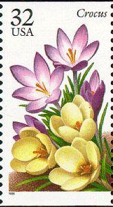 Crocus US postage stamp