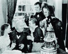 "... Kilburn, Barry MacKay and Reginald Owen in ""A Christmas Carol"" (1938"