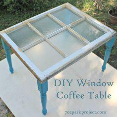 DIY Window Coffee Table #diy