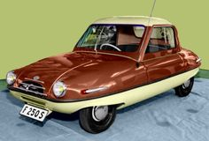 1954 kleinschnittger F250S Micro Car (German) With a 250cc Single-Cylinder Two-Stroke Engine at 14Hp