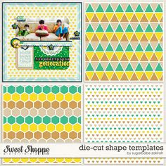 Inspiration Corner - March 24th - Sweet Shoppe Community. Die cut paper template*