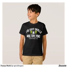 a548437e Funny Math T-Shirt for a mathlete to customize with their team or school  name