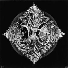 M.C. Escher - Tetrahedral Planetoide 1954.